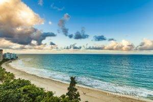 Carrion Court Playa sub-penthouse beachfront ocean view apartment for rent in Condado. Enjoy stunning ocean and rain forest views.
