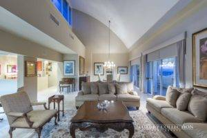 Plaza Athenee Penthouse for sale in San Patricio, Guaynabo Puerto Rico. This two-level penthouse features four bedrooms. Privileged location.