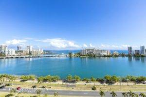 Palma Real Miramar apartment for sale with striking and panoramic views-Condado Lagoon, ocean, cruise ship ports, Condado and Old San Juan.