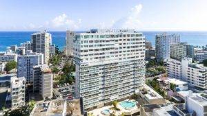Sub-Penthouse for sale at Plaza Stella Condado with ocean views and city views, walking distance to two of the best private schools in Puerto Rico.