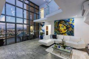 Quantum Metrocenter sub-penthouse for sale at The Financial Hato Rey District. Magnificent proportions and high ceilings, featuring four bedrooms.