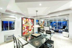Elbal Tower Condado apartment furnished for rent. The balcony is an inviting lookout point with impressive views of cosmopolitan Condado