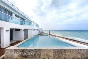amazing beachfront house with infinity pool steps from the beach in Ocean Park Condado Puerto Rico