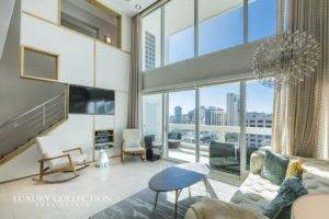 Acquamarina Beachfront Apartment for Rent in Condado. Remodeld and modern and fully furnished two-story residence overlooking the ocean in Puerto Rico.
