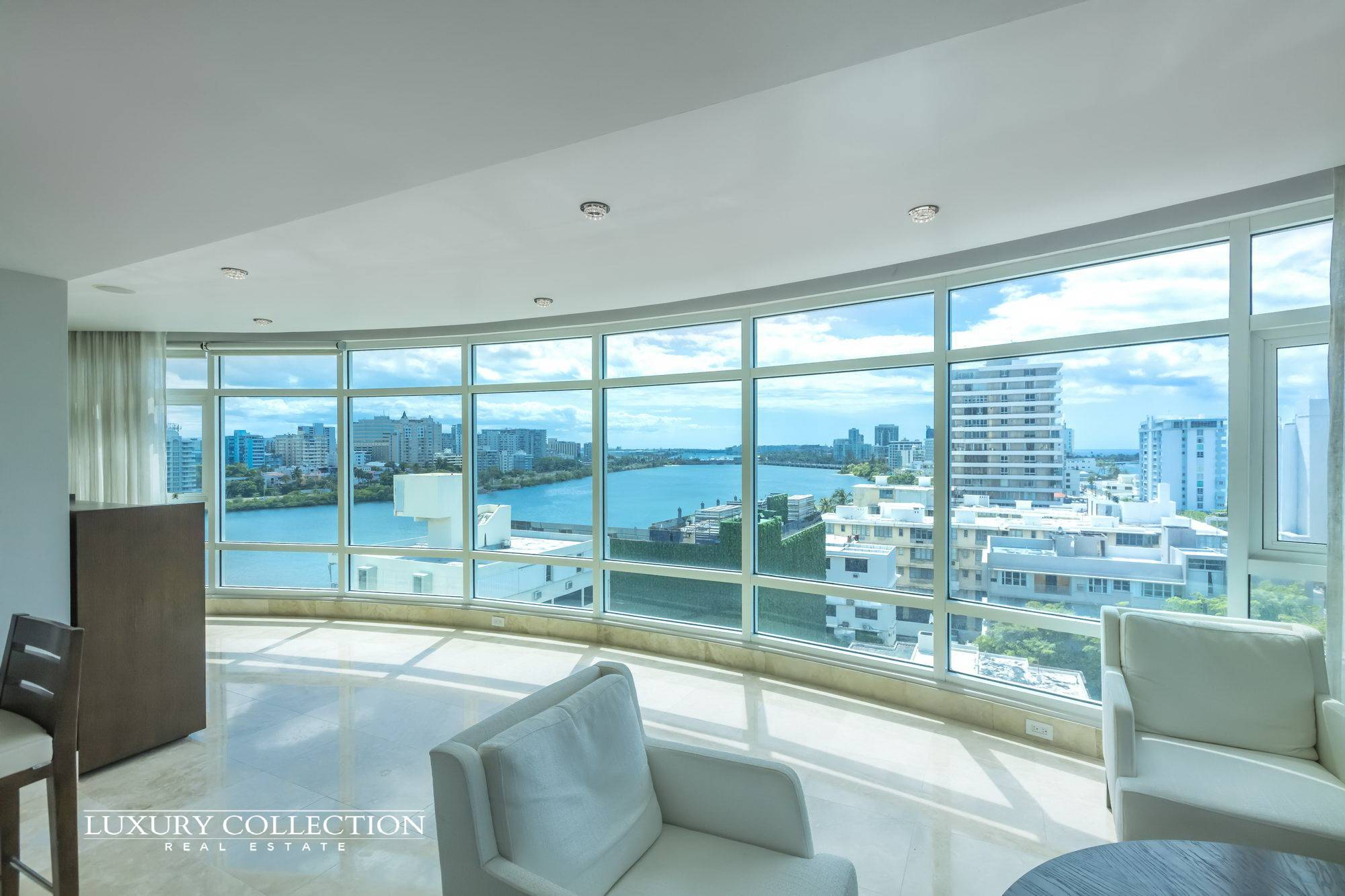 Luxury Collection Bristol high-floor ocean view apartment features stunning and dazzling views of the Condado Lagoon, city view and Atlantic Ocean