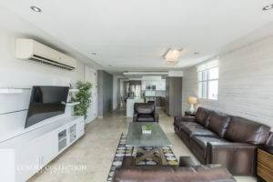 WilsonCondado Plaza in Condado, this exceptional penthouse for rent with terrace has the feel of a single-family home offering great panoramic views.