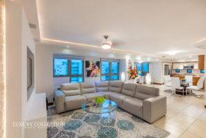Fully furnished apartment at Gallery Plaza Codado for rent offering a resort lifestyle with two bedrooms and two bathrooms, and two parking spaces.